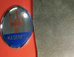 Tessuto Maserati - tessuto floccato cruscotti marrone e nero